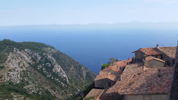 The Mediterranean as seen from Eze