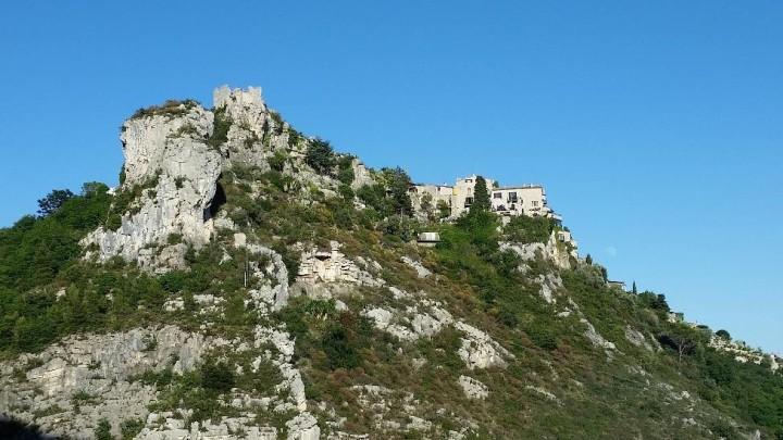 The backside of Eze Village